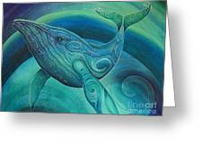 Whale Tohora By Reina Cottier Greeting Card