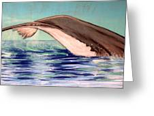 Whale Tail    Pastel   Sold Greeting Card