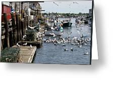 Wharf Action Greeting Card