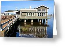 Wharf At Jekyll Island Greeting Card