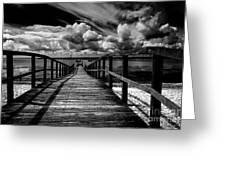 Wharf At Southend On Sea Greeting Card