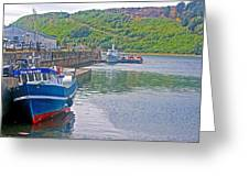 Wharf Near Angelmo Fish Market In Puerto Montt-chile  Greeting Card