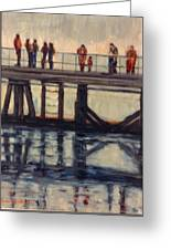 Wharf Reflections@ Halifax N. S. Greeting Card