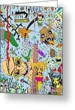 What A Mess Color Greeting Card by Jack Norton