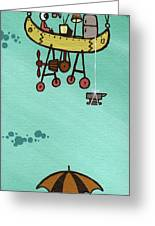 What Goes Up.... Greeting Card by Dan Keough