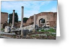 Basilica Aemilia Greeting Card