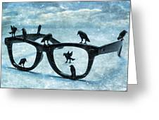 What The Crows Found Greeting Card