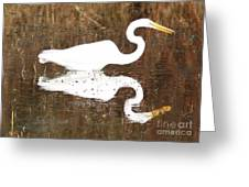 What The Egret Caught Greeting Card
