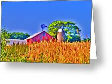 Wheat Farm Near Gettysburg Greeting Card