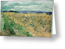Wheat Field With Cornflowers At Wheat Fields Van Gogh Series, By Vincent Van Gogh Greeting Card