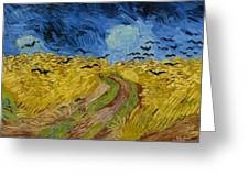 Wheat Field With Crows At Wheat Fields Van Gogh Series, By Vincent Van Gogh Greeting Card