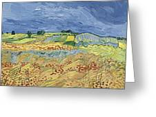 Wheat Field With Stormy Sky Greeting Card