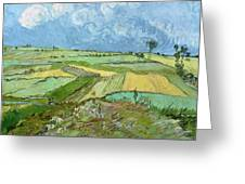 Wheat Fields After The Rain, The Plain Of Auvers Greeting Card