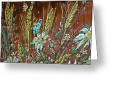 Wheat 'n' Wildflowers I Greeting Card
