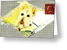 Wheaten Scottish Terrier - During Sickness And Health Greeting Card