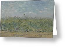 Wheatfield With Partridge Paris, June - July 1887 Vincent Van Gogh 1853 - 1890 Greeting Card