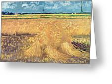 Wheatfield With Sheaves Greeting Card