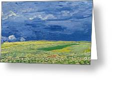 Wheatfields Under Thunderclouds Greeting Card