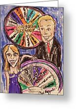 Wheel Of Fortune Pat Sajak And Vanna White Greeting Card