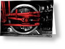 Wheel Of Red Steel Greeting Card