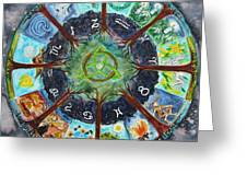 Wheel Of The Year Greeting Card