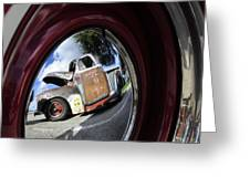 Wheel Reflections Greeting Card