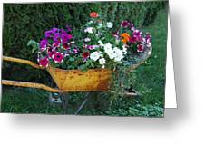 Wheelbarrow Beauty Greeting Card