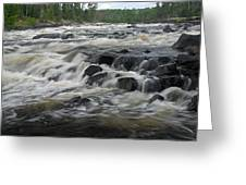 Wheelbarrow Falls Greeting Card