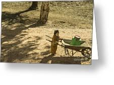 Wheelbarrow Girl  Greeting Card