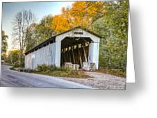 Wheeling Covered Bridge Greeting Card