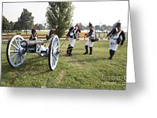 Wheeling The Cannon At Fort Mchenry In Baltimore Maryland Greeting Card