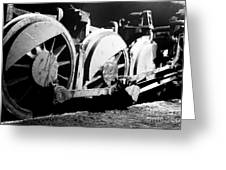Wheels Of Steam Engine Greeting Card