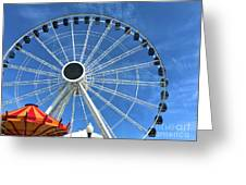Wheels On Fire Greeting Card