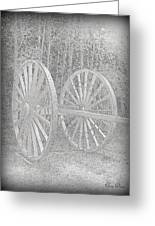 Wheels Greeting Card by Trina Prenzi