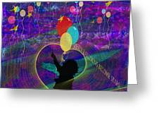 When Balloons Become Stars Greeting Card by Sydne Archambault