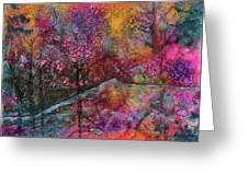 When Cherry Blossoms Fall Greeting Card