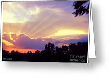 When Evening Comes Greeting Card