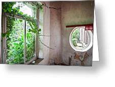 When Nature Takes Over - Abandoned Buildings Greeting Card