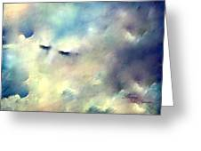 When Sleeping In The Clouds Greeting Card