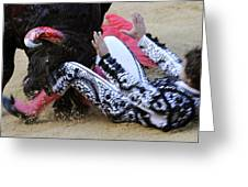 When The Bull Gores The Matador IIi Greeting Card