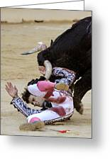 When The Bull Gores The Matador Iv Greeting Card