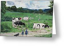 When The Cows Come Home, It's Milking Time Greeting Card