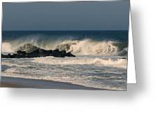 When The Ocean Speaks - Jersey Shore Greeting Card
