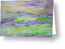 When The Sky Is Yellow The Purple Emerges Greeting Card