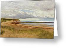 When The Tide Is Low  Maer Rocks, Exmouth, Greeting Card