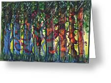 When The Trees Came Out To Play Greeting Card
