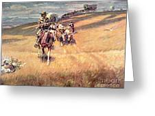 When Wagon Trails Were Dim Greeting Card