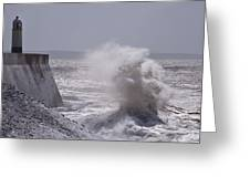 When Waves Collide Greeting Card