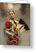 Pow Wow Where Are You Now Greeting Card