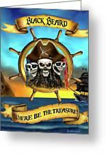 Where Be The Treasure? Greeting Card